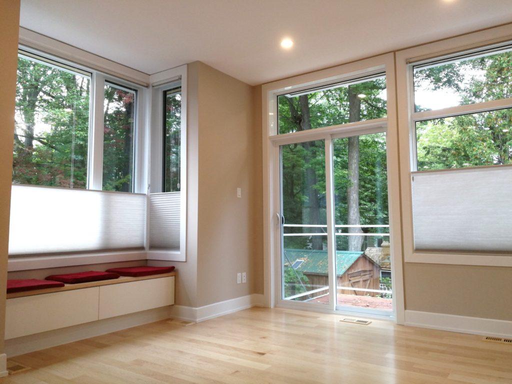 Radiant Heated Floors and Aluminum Hybrid Windows Throughout