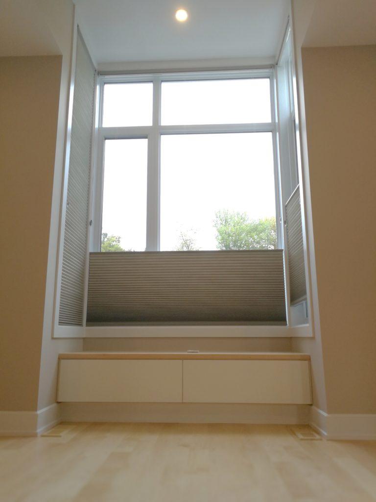 Heated Window Seat with Custom Drawers