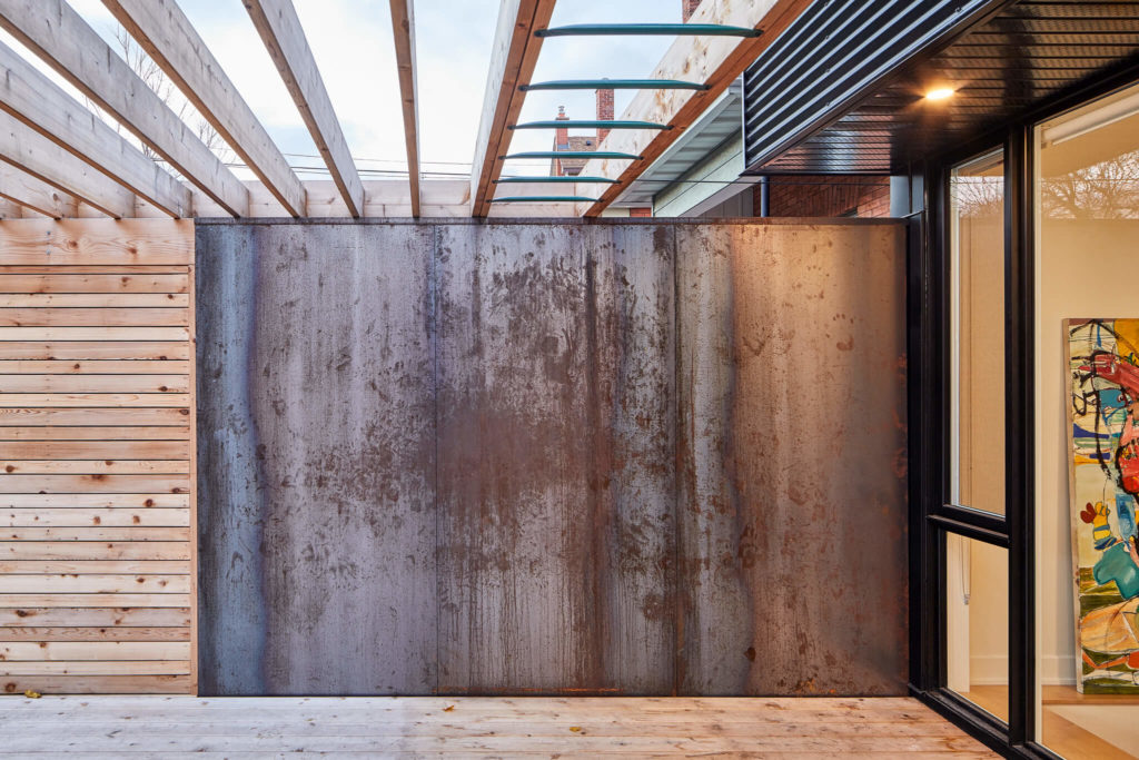 Weathering Steel Wall and Monkey Bars